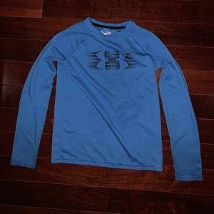 Under Armor Youth Large Blue longsleeved shirt